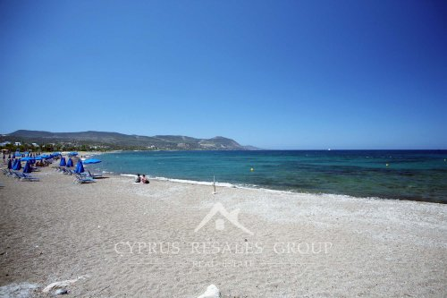Perfect sandy beach at Latchi, Polis, Cyprus